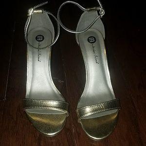 Michael Antonio Gold heels